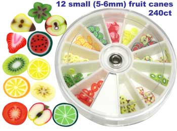 Fimo frooties fruit polymer clay nail art canes 240pk prinsesfo Image collections