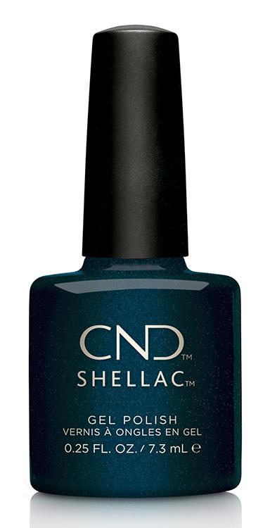 CND Shellac Gel Polish Midnight Swim (Dark Navy Blue) - .25 fl oz