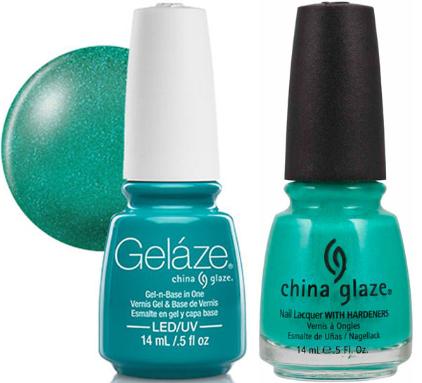 Gelaze Gel Polish & Nail Lacquer DUO Turned Up Turquoise