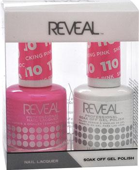 Reveal Gel Polish Nail Lacquer Matching Duo Shocking Pink 5 Oz