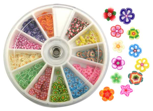 Fimo Nail Art Polymer Sliced Clay Canes Assorted Flowers 240pk