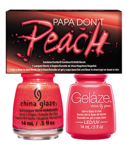 Gelaze Gel Polish & Nail Lacquer DUO Papa Don\'t Peach - .5 fl .oz